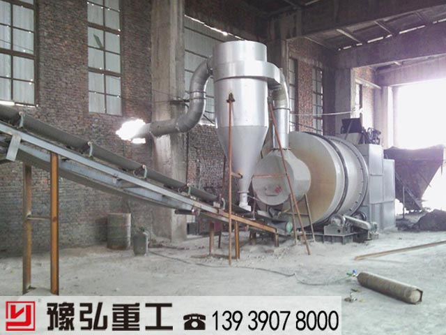 安装好的矿粉烘干机